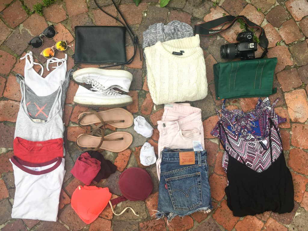 Osprey Fairpoint backpacking: packing list for 2 weeks