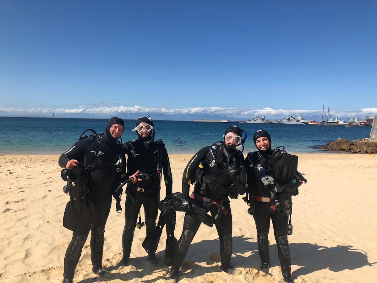 Open Water a Cape Town amb nous amics
