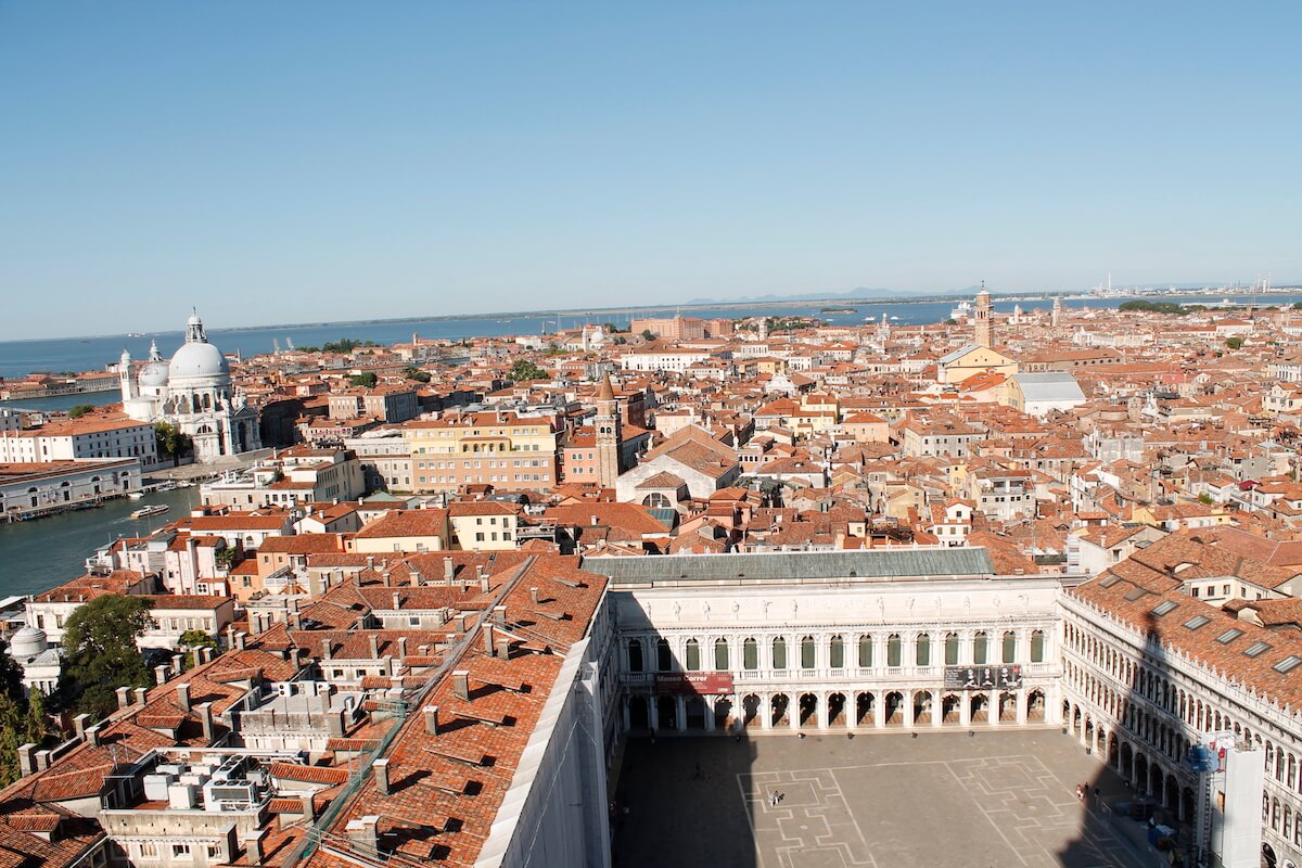 Views from the Camapnile in Venice