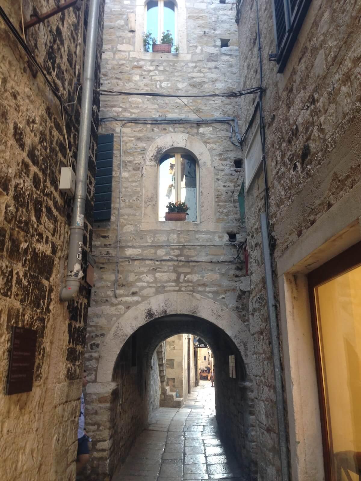 Split's old town streets