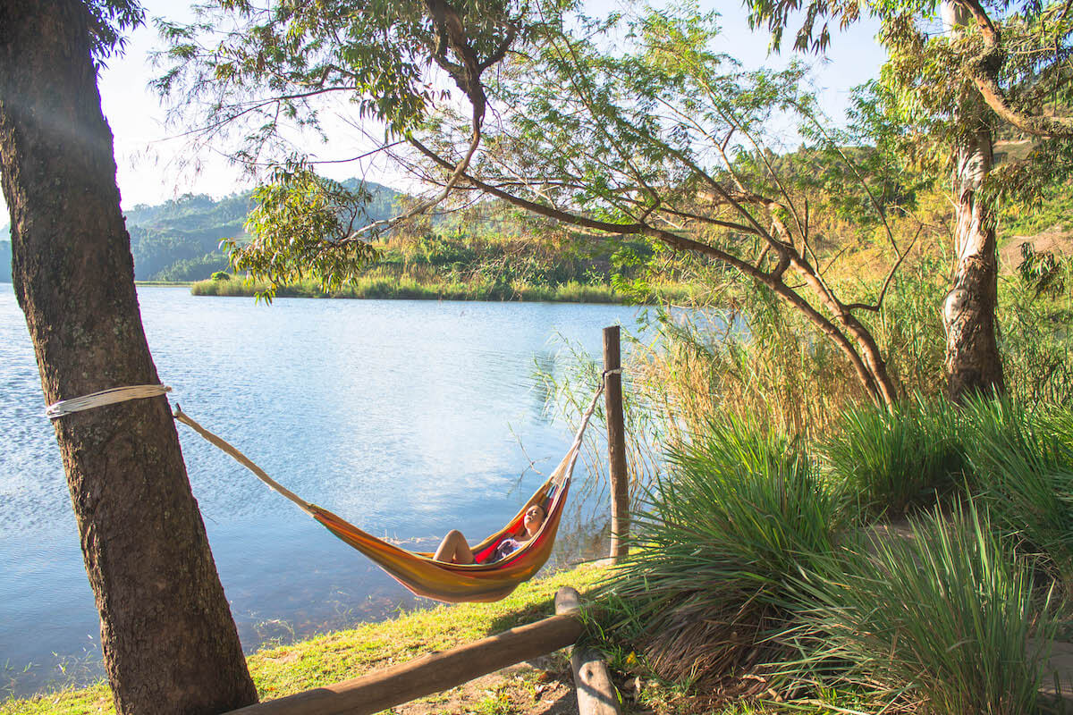 Relax time at Mutanda Lake Resort