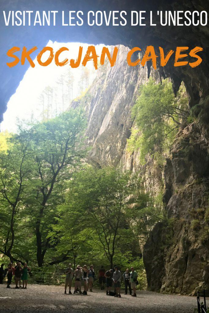 Visitant les coves de l'UNESCO Skocjan caves