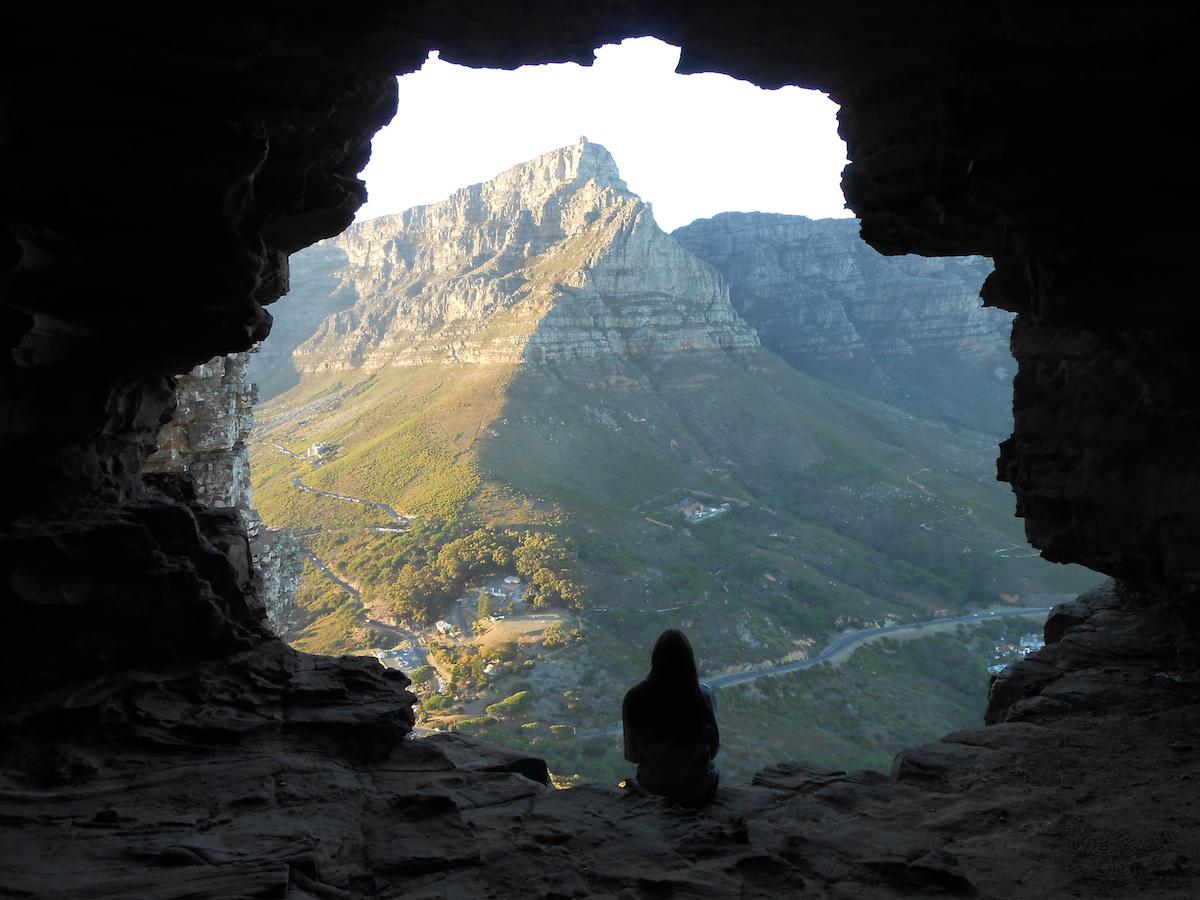 Vistes des de Wally's cave