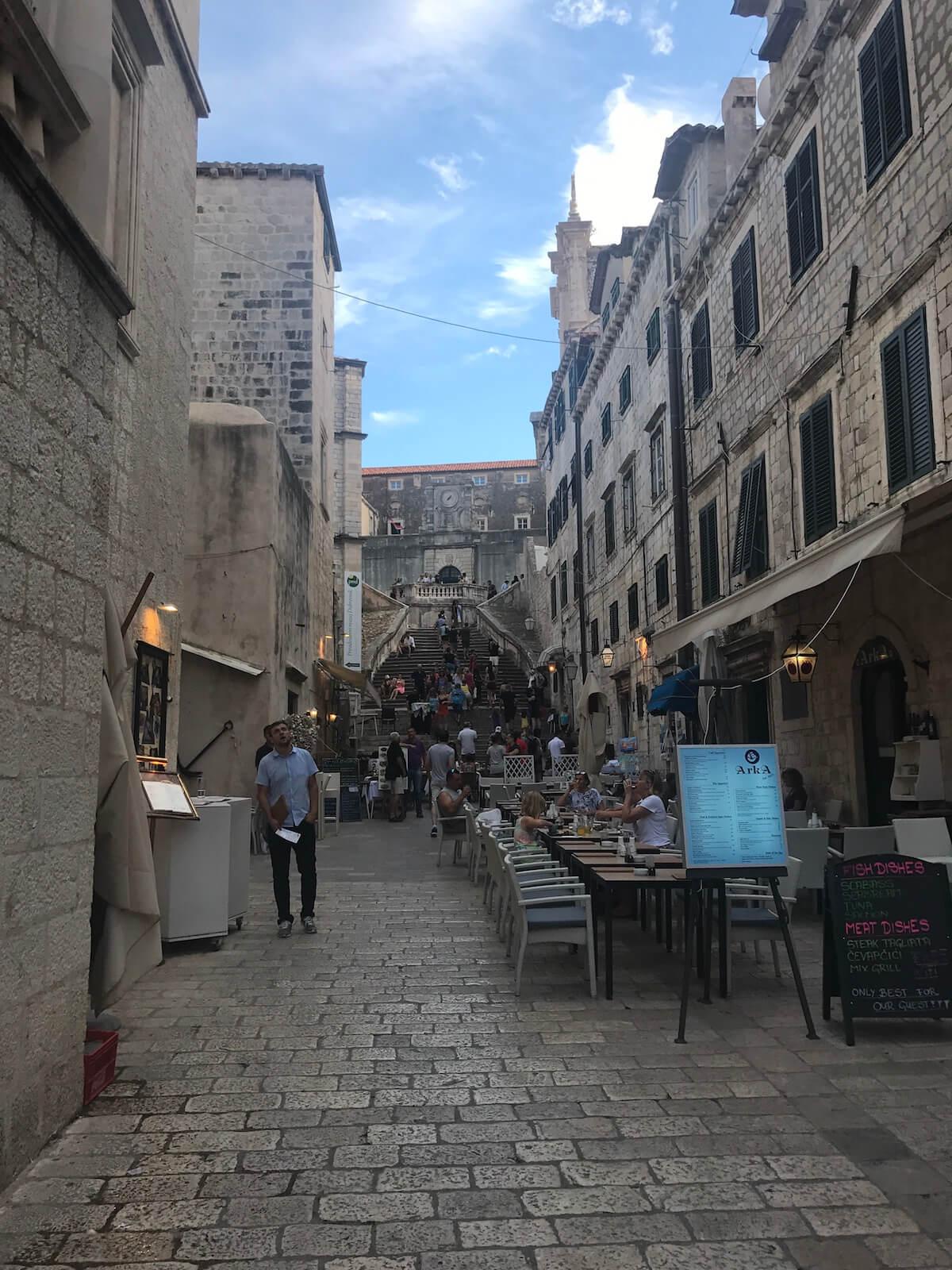 carrers turístics de Dubrovnik