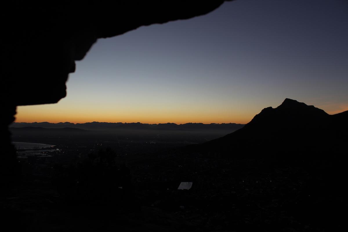 sortida de sol des de Wally's cave