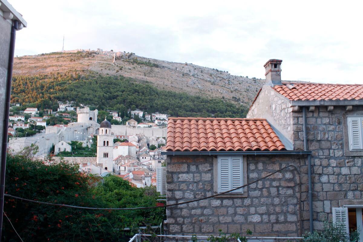 vistes des de l'entrada de Dubrovnik
