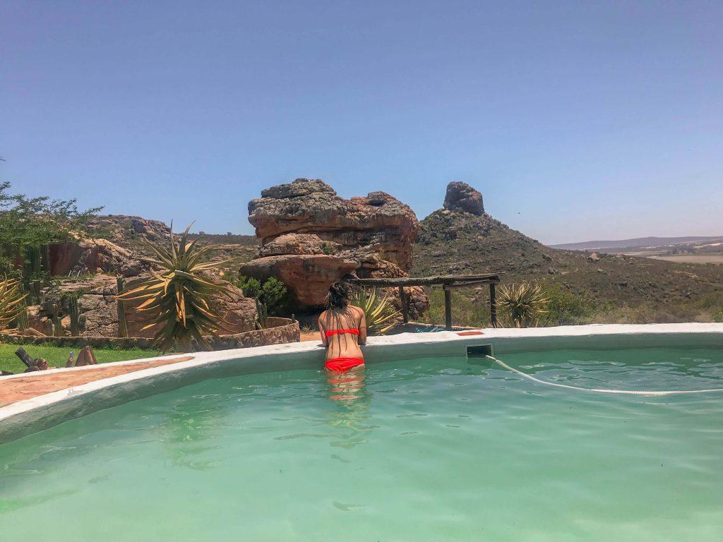Gaudint de la piscina