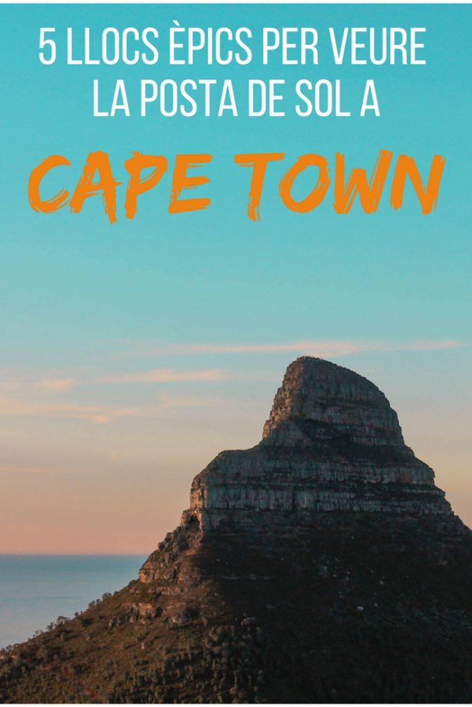 5 llocs èpics per veure la posta de sol a Cape Town