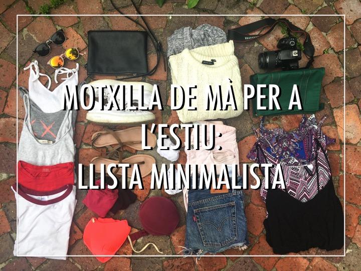 Motxilla de màper a l'estiu: llista minimalista