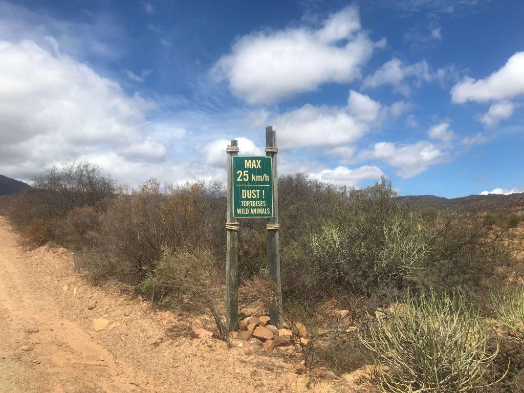 Senyal a l'entrada de Gecko Creek