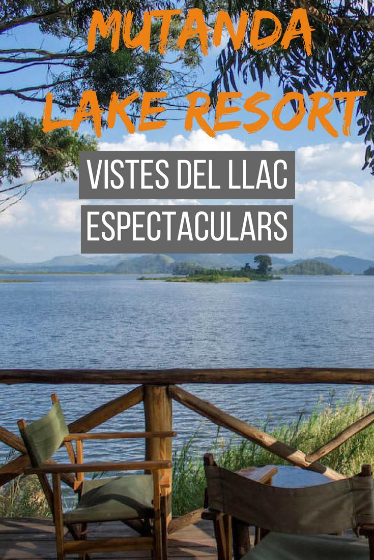 Mutanda Lake Resort vistes del llac espectaculars