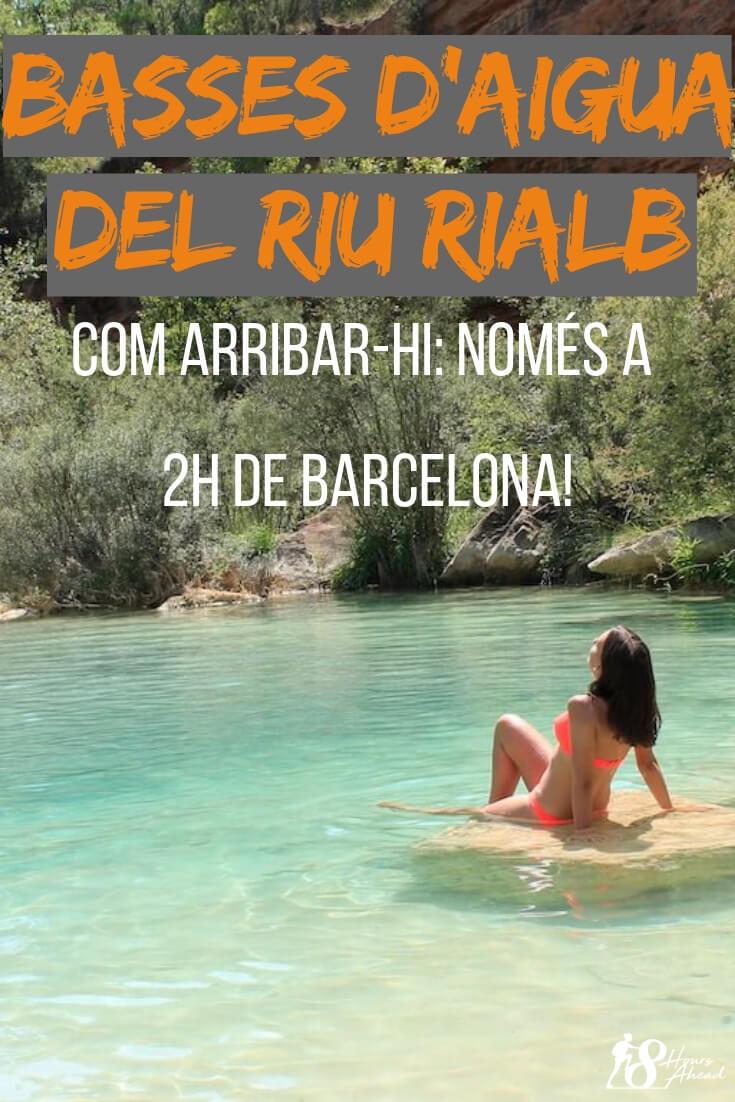 Basses d'aigua del riu Rialb: com arribar-hi