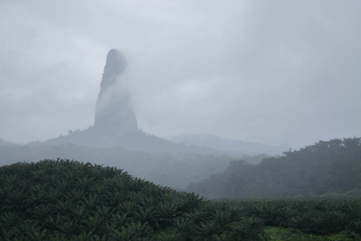 Pico do Cao Grande a Sao Tomé
