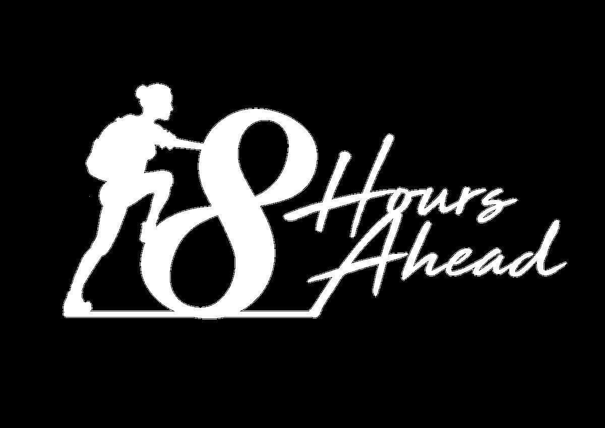Im8hoursahead logo white