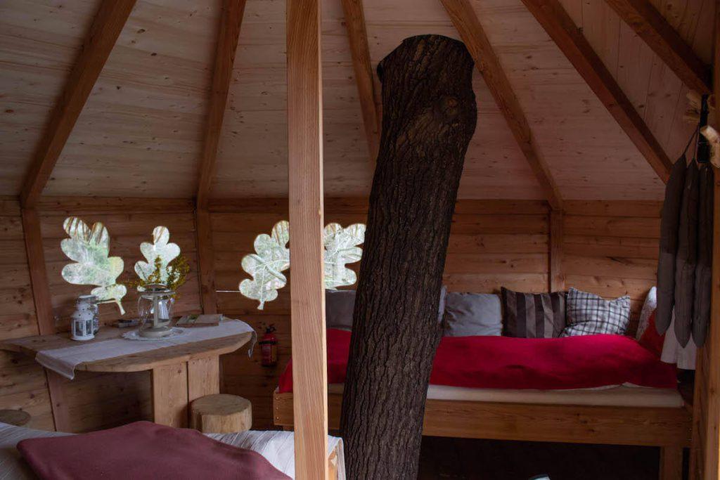 Interior de la casa a l'arbre alta de Resort Green Valley