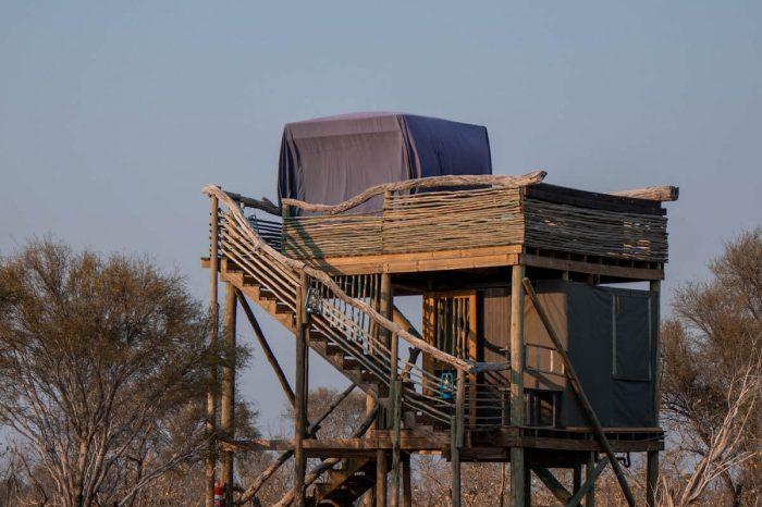 Dormint a Skybeds una habitació a l'aire lliure a Botswana