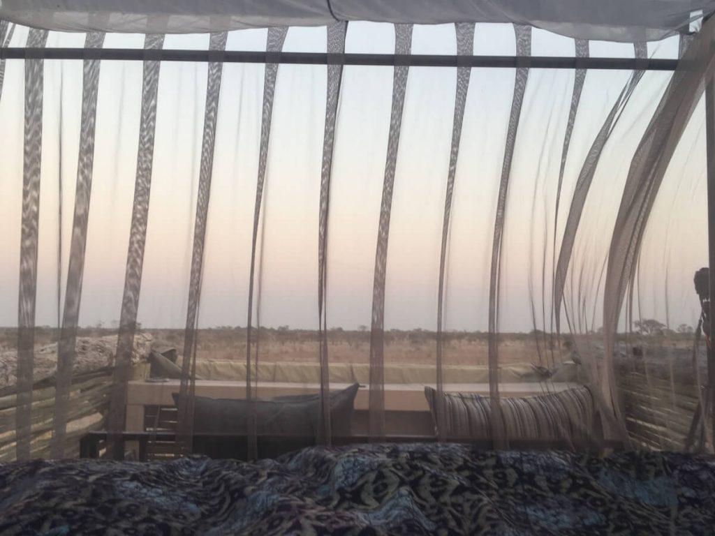 Les vistes des del llit de Skybeds