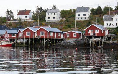 Dormint a una casa de pescadors Rorbu a Rorbuhotell, illes Lofoten