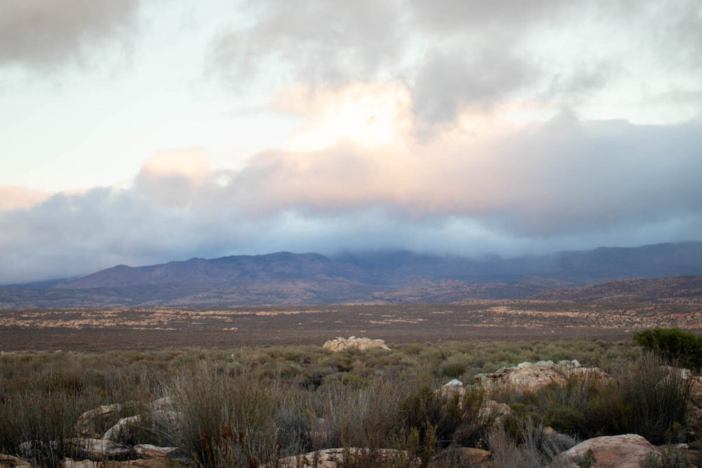 Vistes des de Kagga Kamma Lodge, Sud-Àfrica