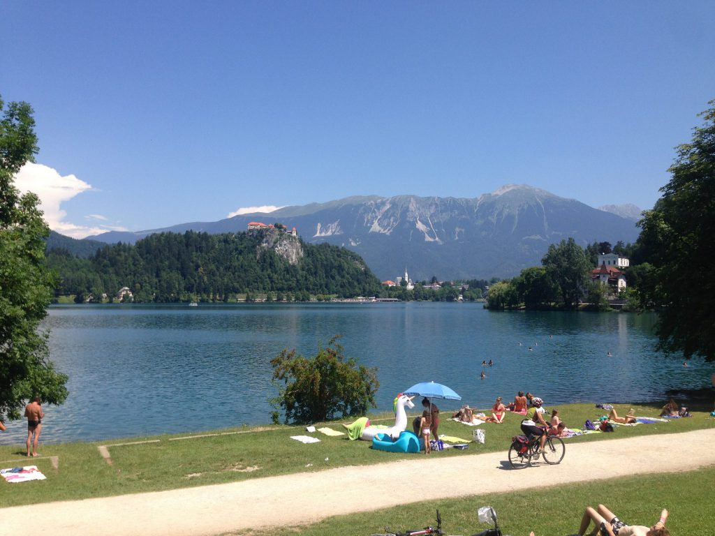 Lake Bled views from the shore