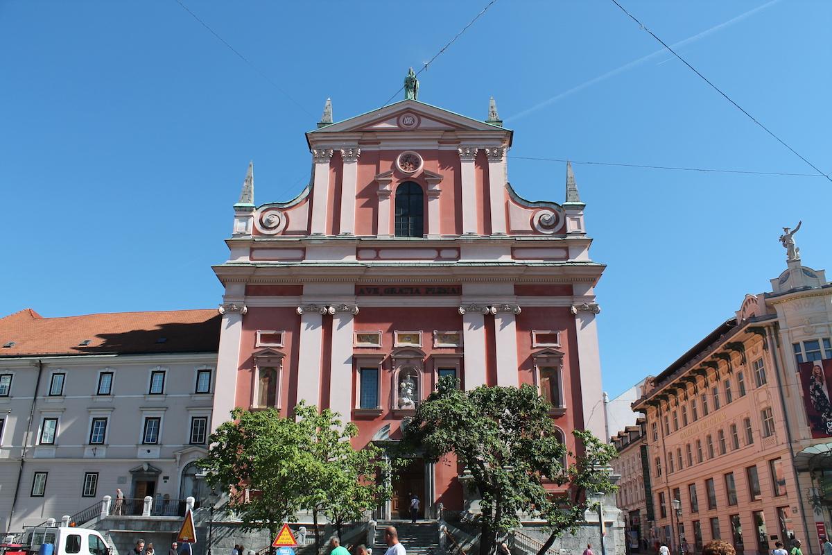 Prešernov trg in Ljubljana