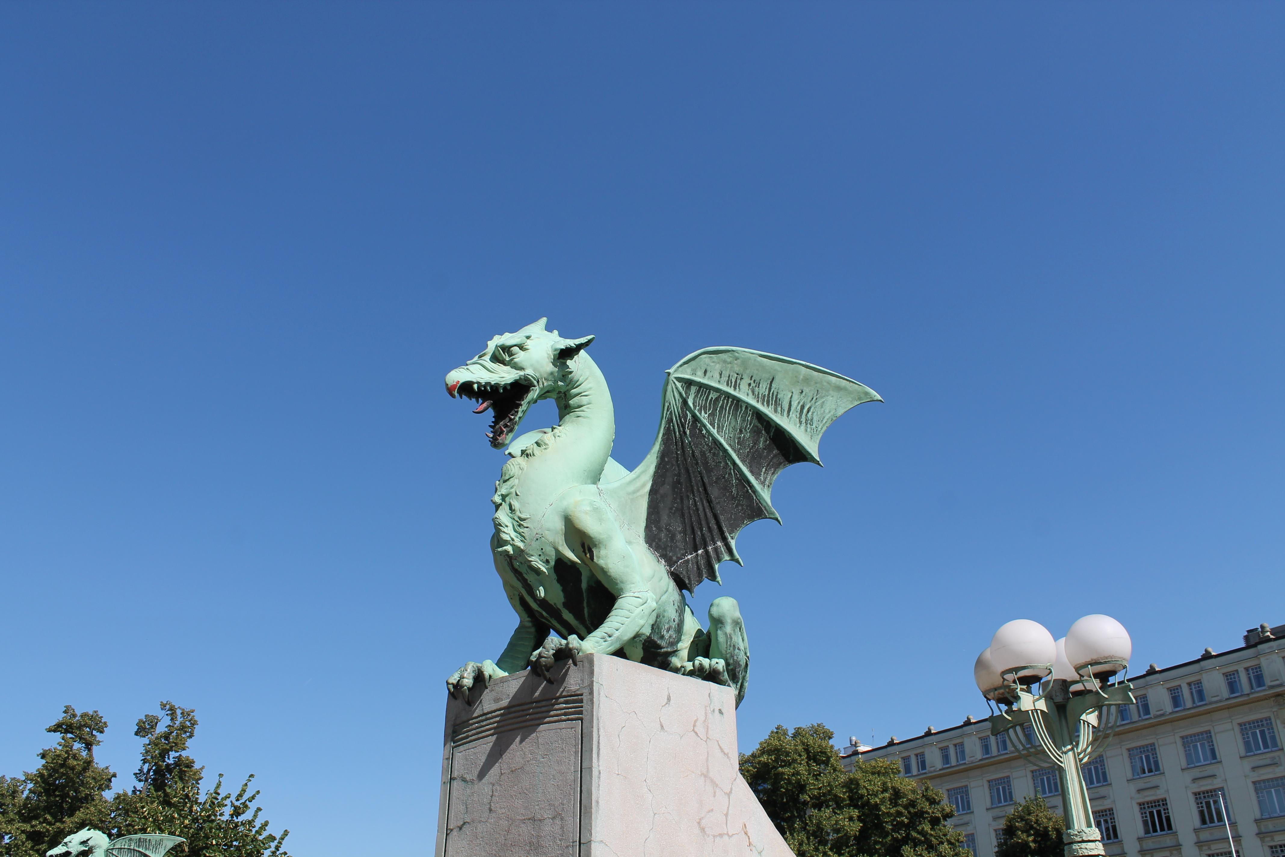 dragon of the Dragon Bridge in Ljubljana
