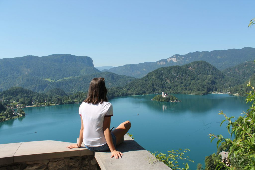 Views of Lake Bled from the castle