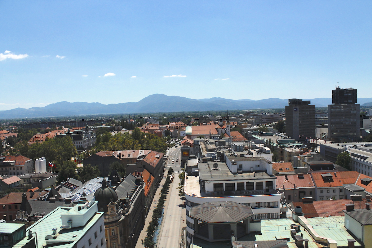 views from Neboticnik in Ljubljana