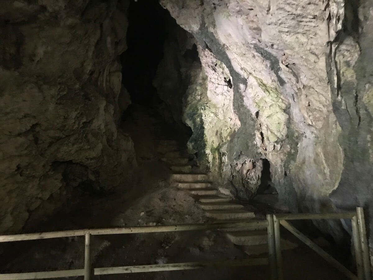 secret tunnels in the Predjama castle