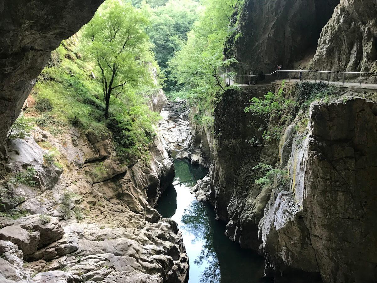 visiting the Skocjan caves