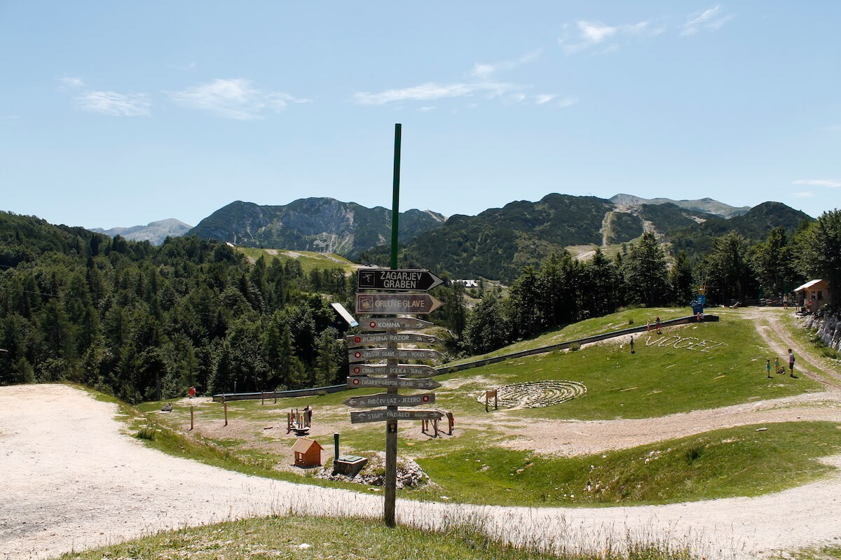 Vogel ski resort views during summer