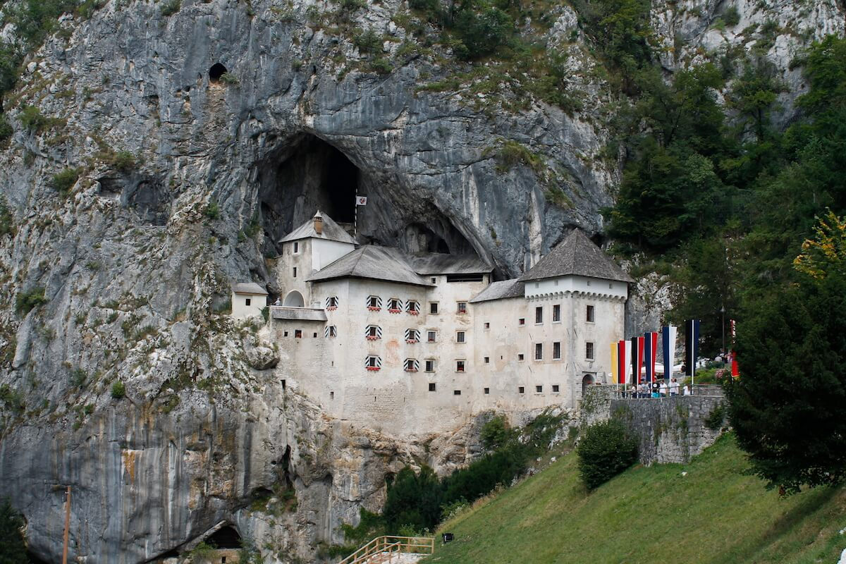 Predjama castle from the outside