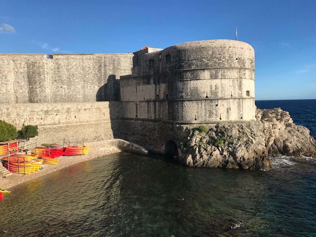 walls surrounding Dubrovnik