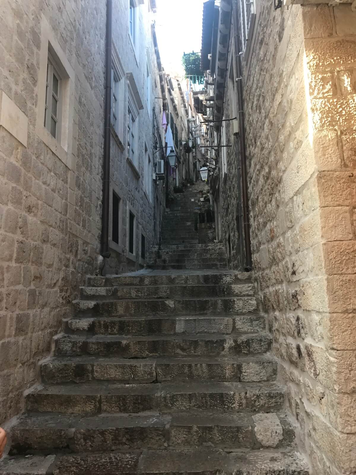getting away from the crowds in Dubrovnik