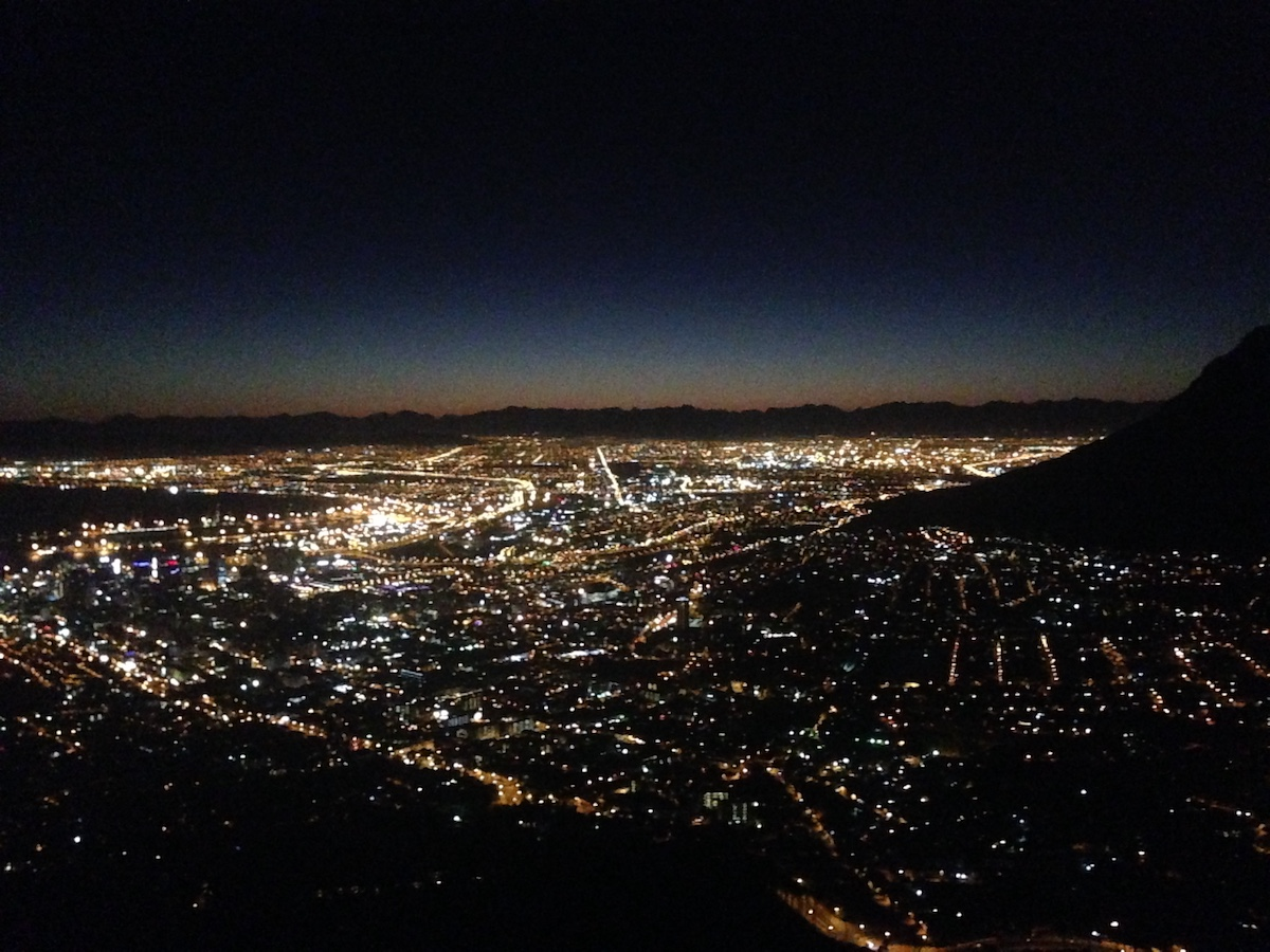 Cape Town from Lion's Head parking lot