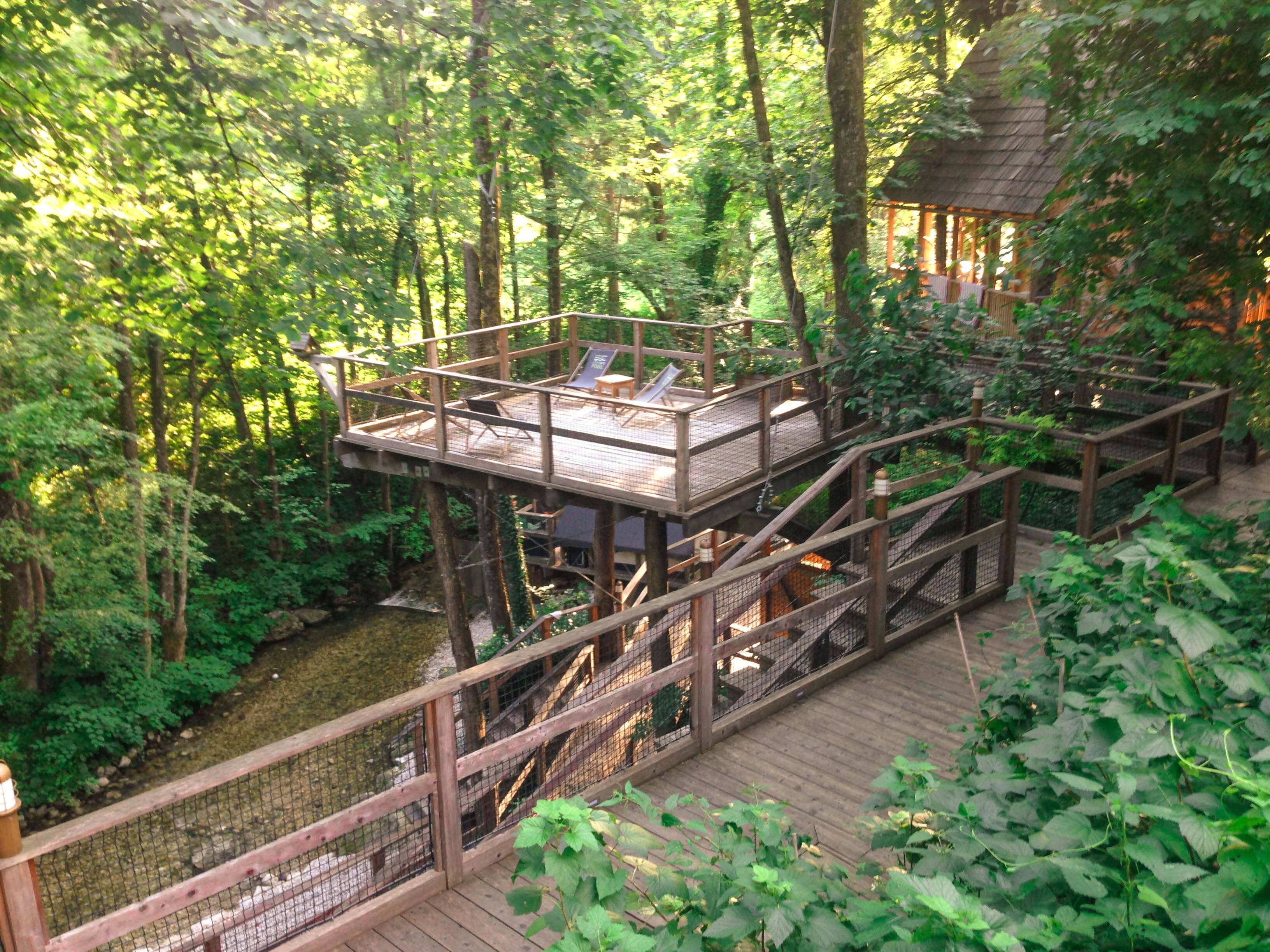 viewing decks at Garden Village Bled
