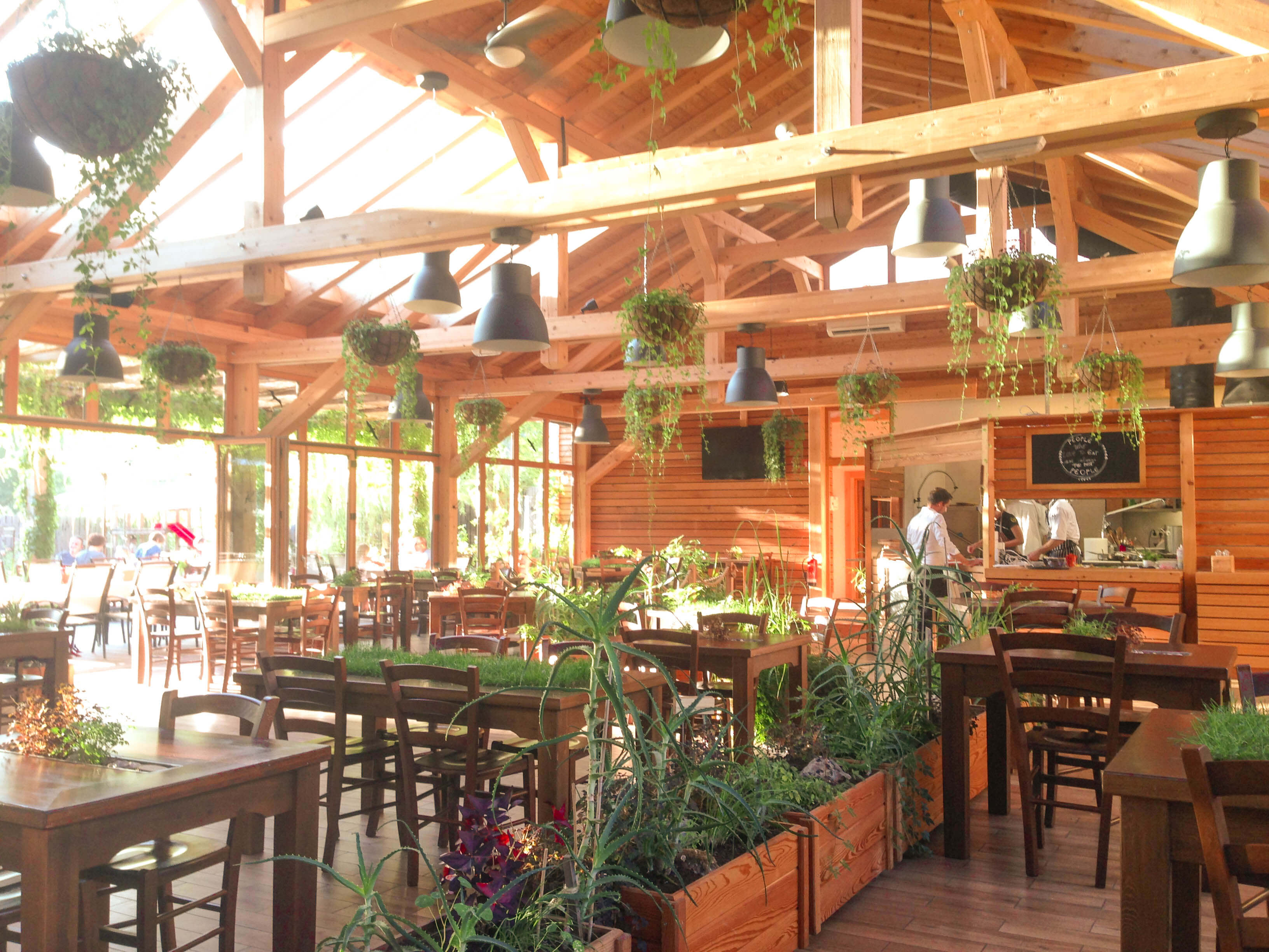 Greenhouse restaurant at Garden Village Bled