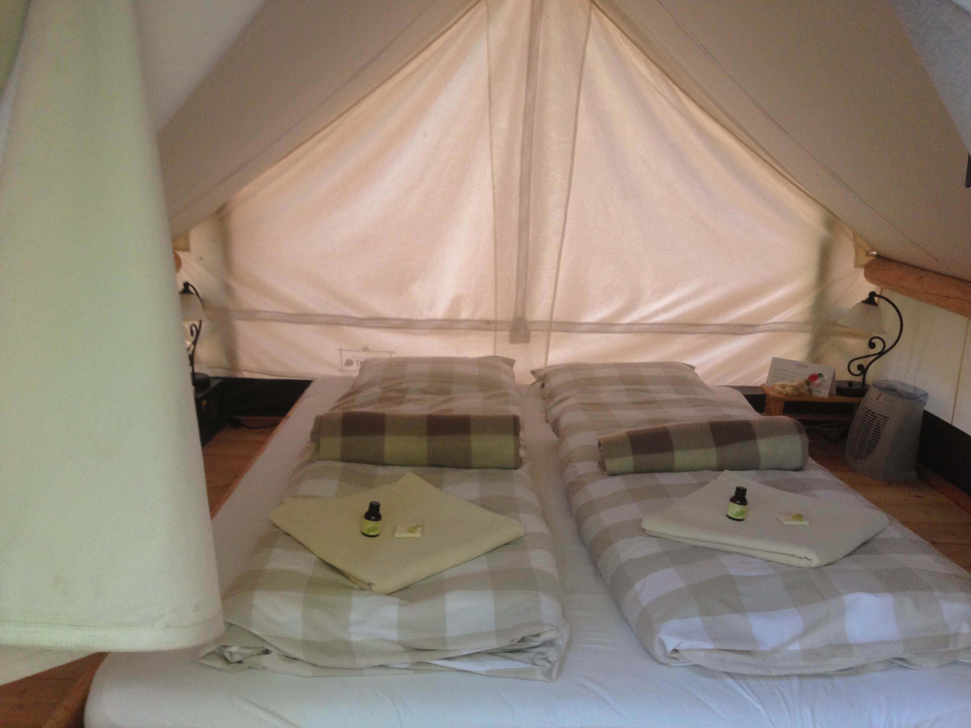Our pier tent at Garden Village Bled