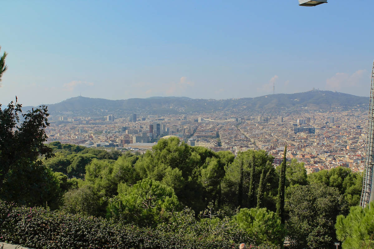 Barcelona city views from Montjuïc