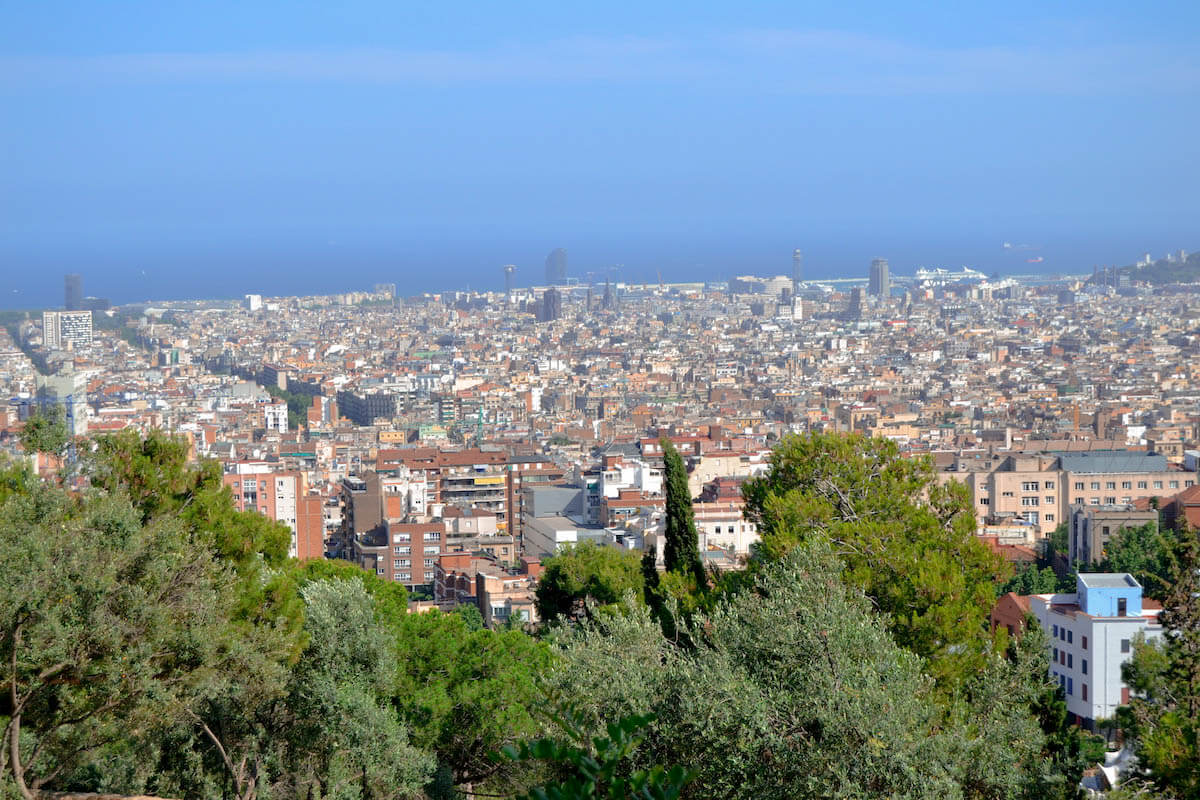 Parc Guell views of Barcelona