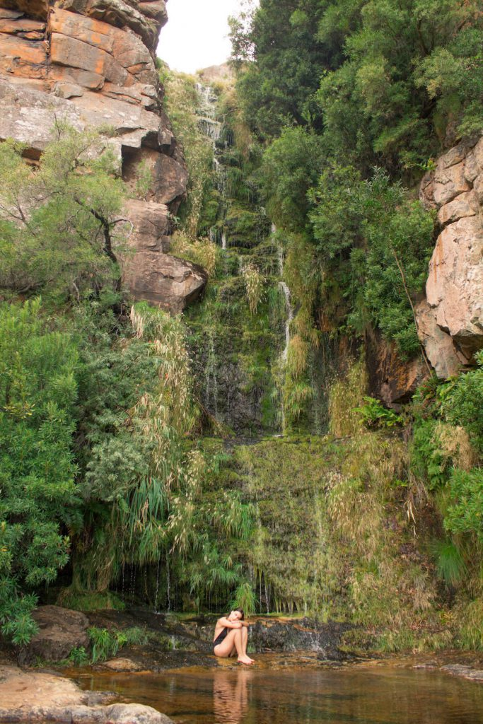 Algeria Waterfall in the Cederberg, South Africa
