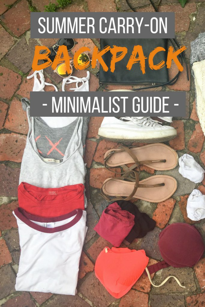 Summer carry-on backpack minimalist guide