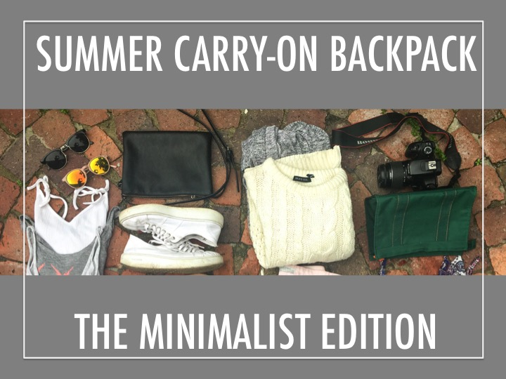 Summer carry-on backpack the minimalist edition