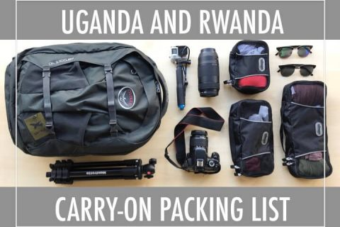Uganda and Rwanda carry-on packing list