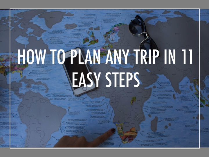 How to plan any trip in 11 easy steps