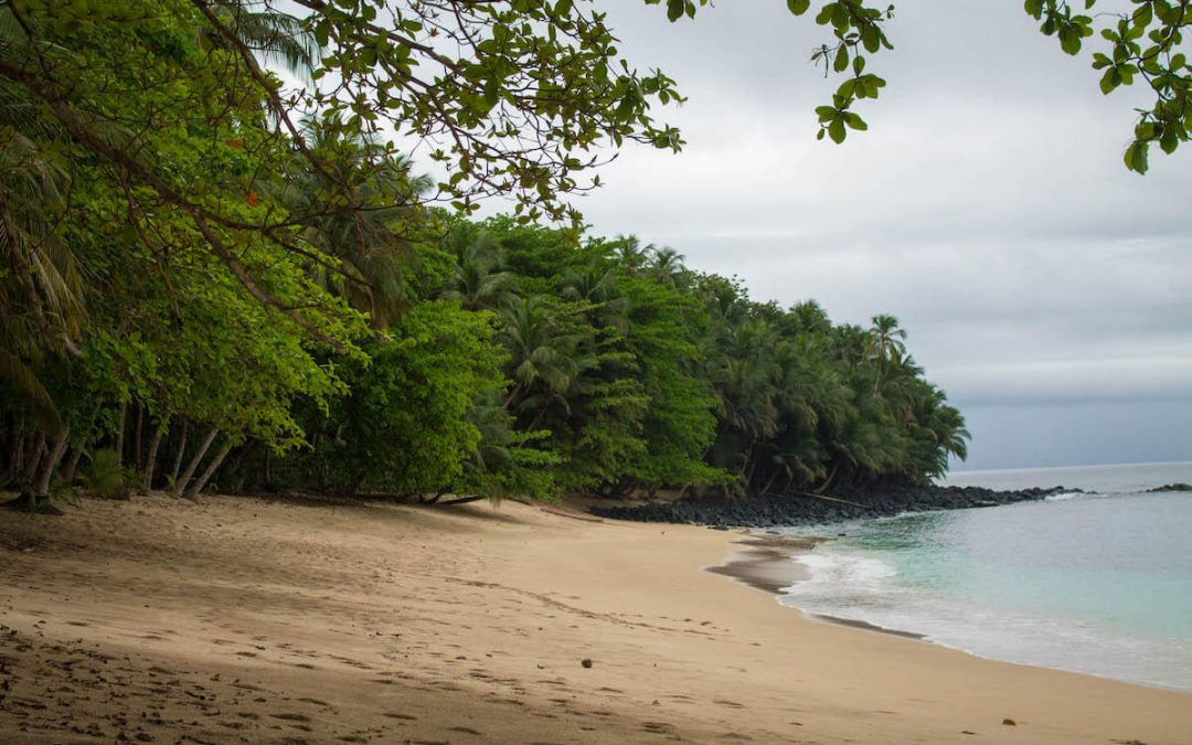 Beautiful Príncipe Island beach