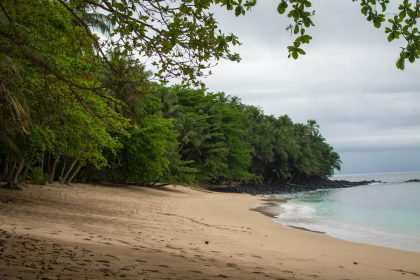 Beautiful Príncipe Island beach
