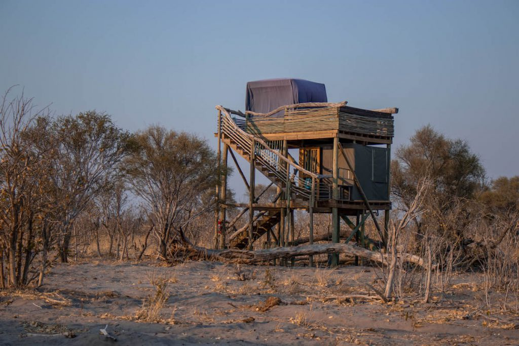 Sleeping under the stars in the  Okavango Delta