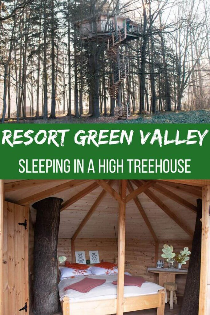 Resort Green Valley: treehouse near Prague