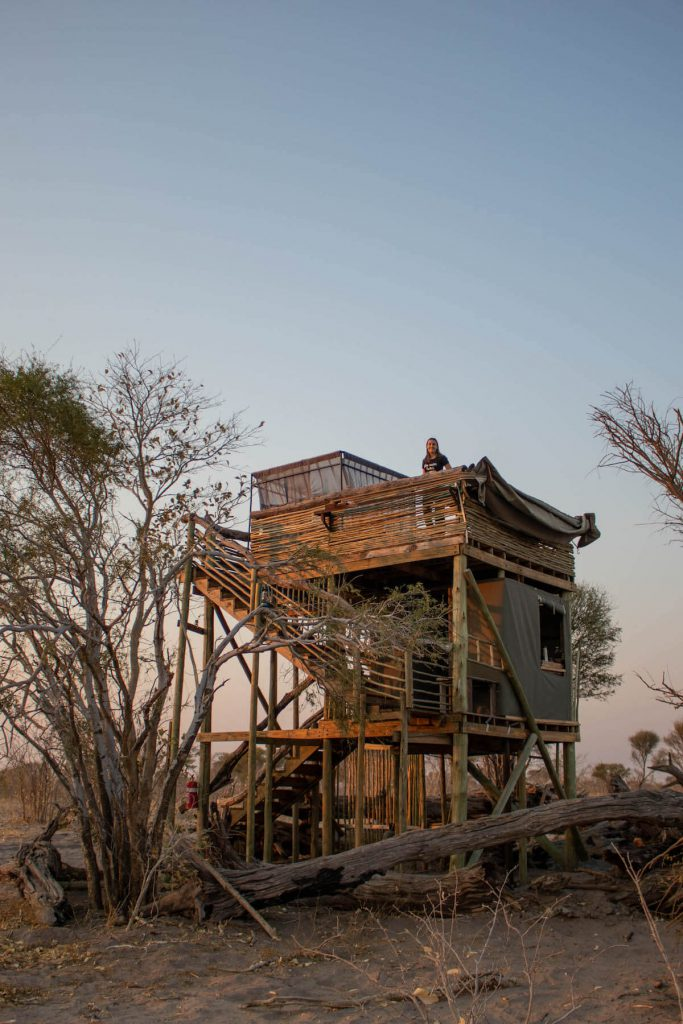 Staing at Skybeds in the Okavango Delta, Botswana